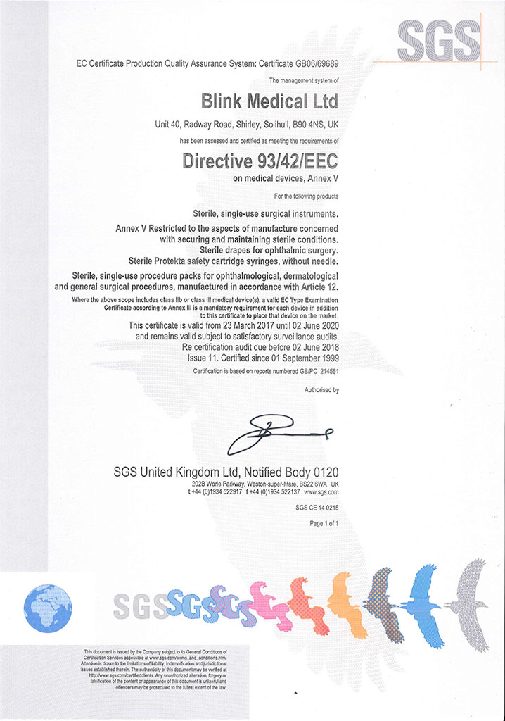 certificate eec directive medical kirk 11th january